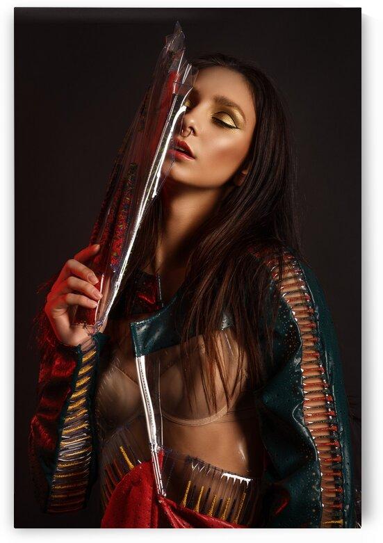 Girl in latex by Krivonos