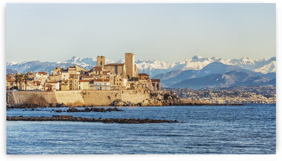 Coastline in Antibes by Manjik Pictures