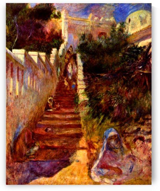 Stairs in Algier by Renoir by Renoir