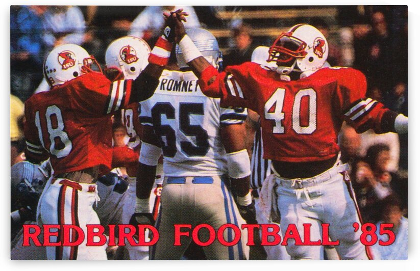 1985 Illinois State Redbirds Football Poster by Row One Brand