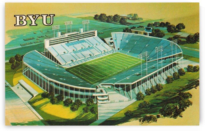 1982 BYU Cougar Stadium Art by Row One Brand