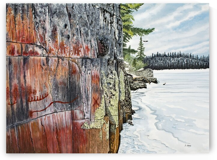 Picture Lake Pictographs by Stephen Emms