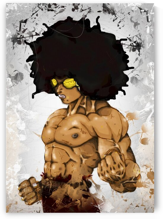 KING JEETA-- SUPER NUBIAN 2 -- artistic grunge by BeFree Illustrations