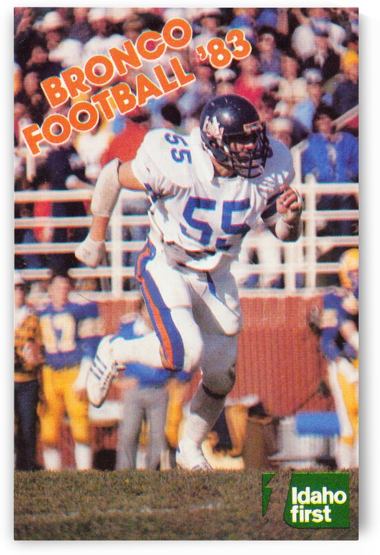 1983 Boise State Broncos Carl Keever Football Poster by Row One Brand