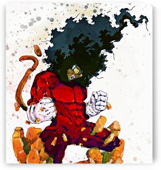 KING JEETA-- SUPER NUBIAN 3 -- Watercolor Blotch by BeFree Illustrations