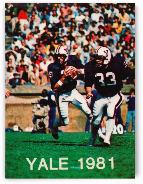 1981 Yale Bulldogs Football Poster by Row One Brand