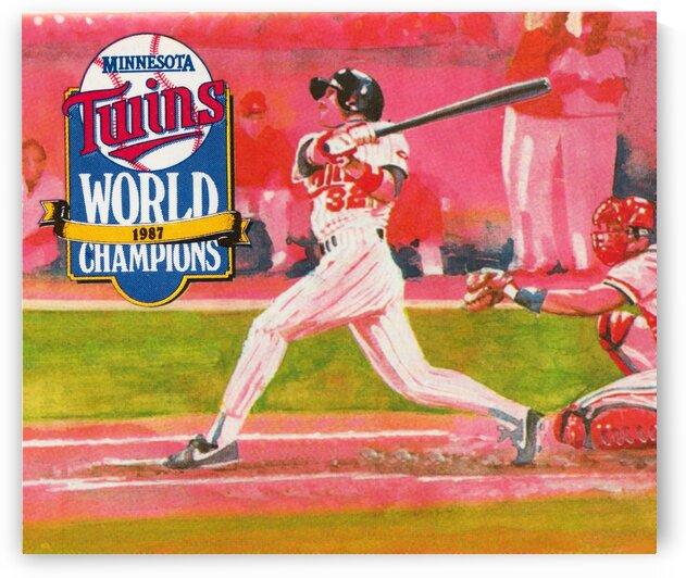 1988 Minnesota Twins Baseball Art by Row One Brand