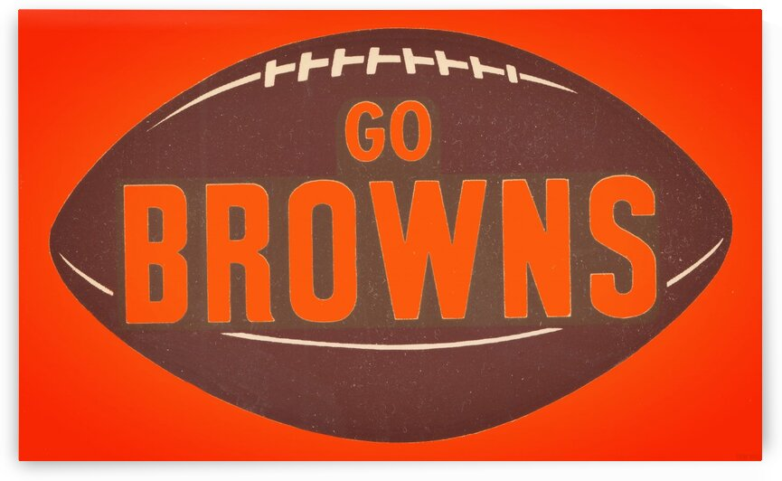 Vintage Cleveland Browns Football Art by Row One Brand
