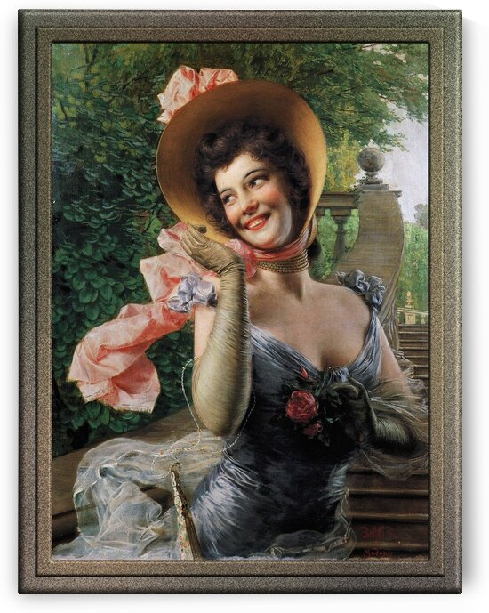 Portrait of a Lady by Gaetano Bellei Old Master Reproduction by xzendor7