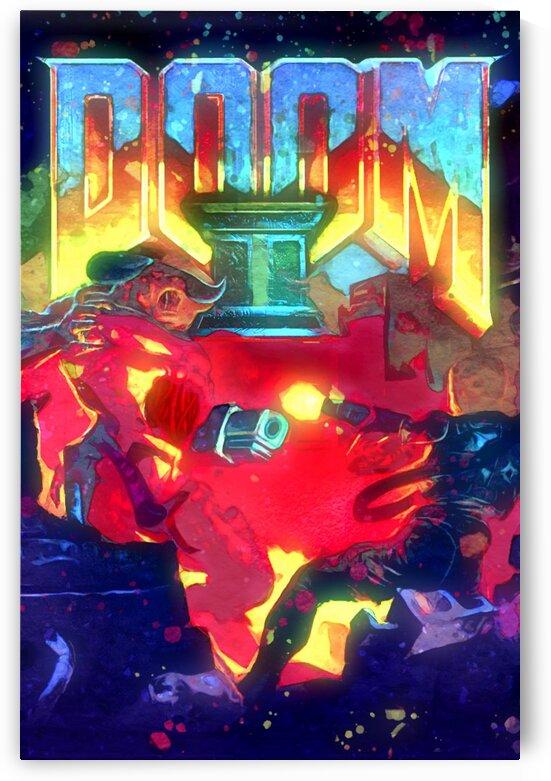 """DOOM 2 1994"" DOOM PC FPS VIDEO GAME by BeFree Illustrations"