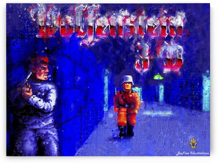 """""""Wolfenstein 3D-1992""""-FPS PC GAME by BeFree Illustrations"""