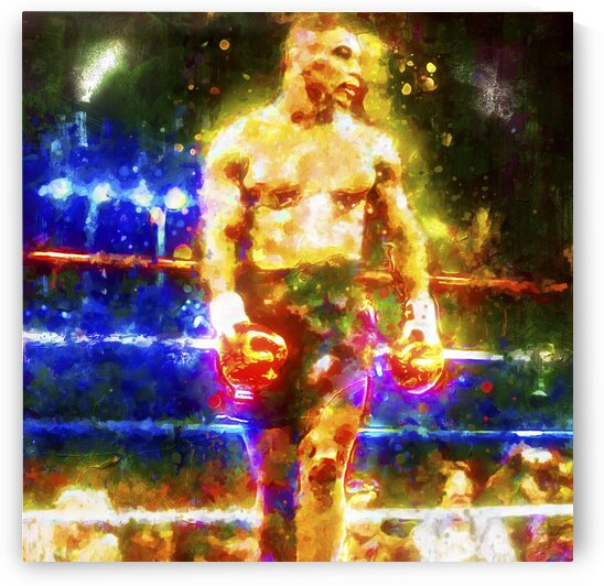 MIKE TYSON -- THE UNDISPUTED GLOW by BeFree Illustrations