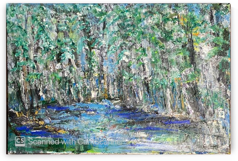 Blue Forest  Acryl on Canvas 60x40 by SA Colour Creations