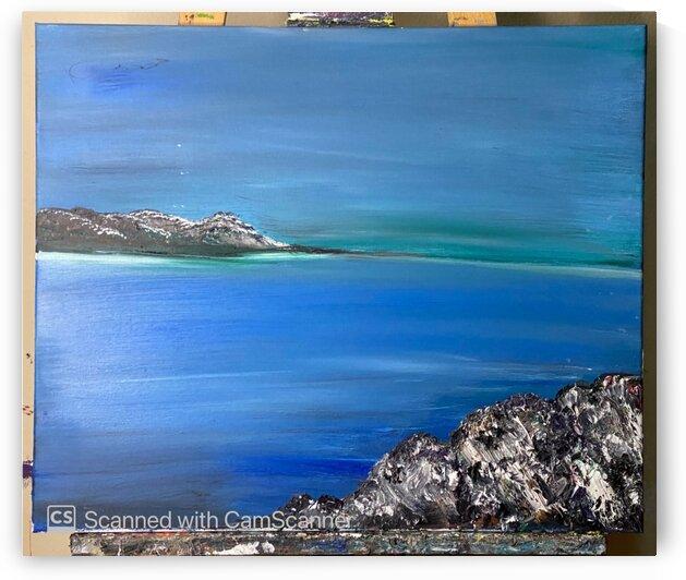 Green Sea  Oil on Canvas 50x60 by SA Colour Creations