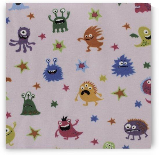 Monsters - Pink by Mutlu Topuz