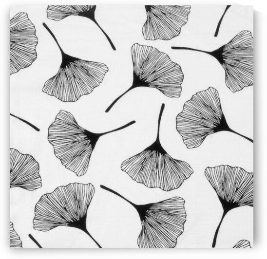 Bamboo Flowers - White by Mutlu Topuz