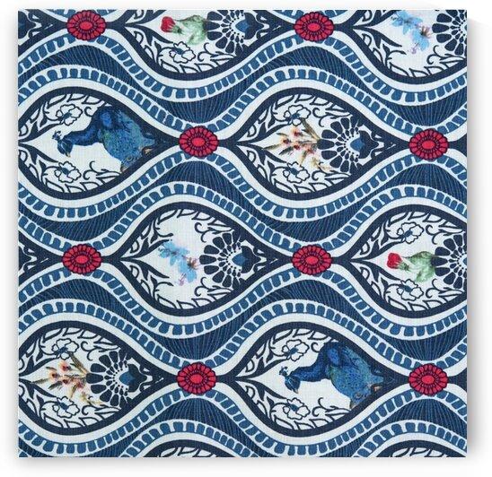 Peacock - Blue by Mutlu Topuz
