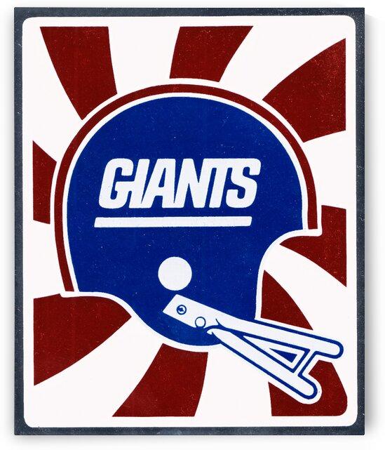 Retro New York Giants Helmet Art by Row One Brand