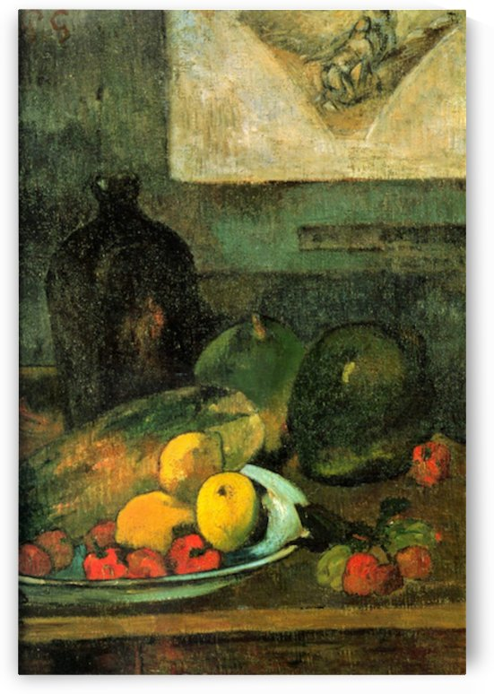 Still Life in Front of a Stich by Gauguin by Gauguin