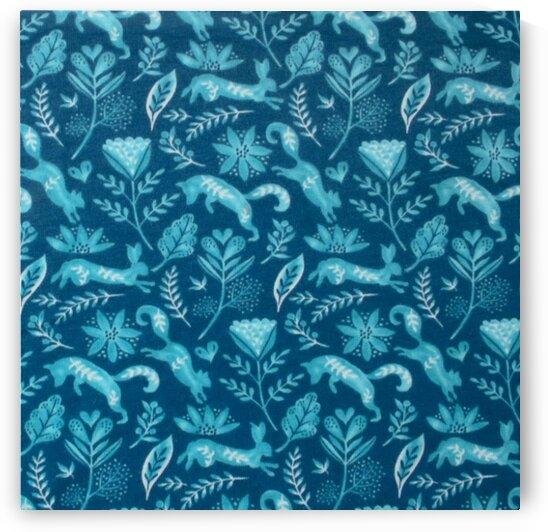 Fox - Dark blue by Mutlu Topuz