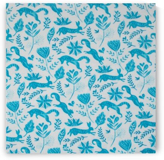 Fox - Blue by Mutlu Topuz