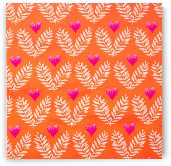 Heart - Orange by Mutlu Topuz