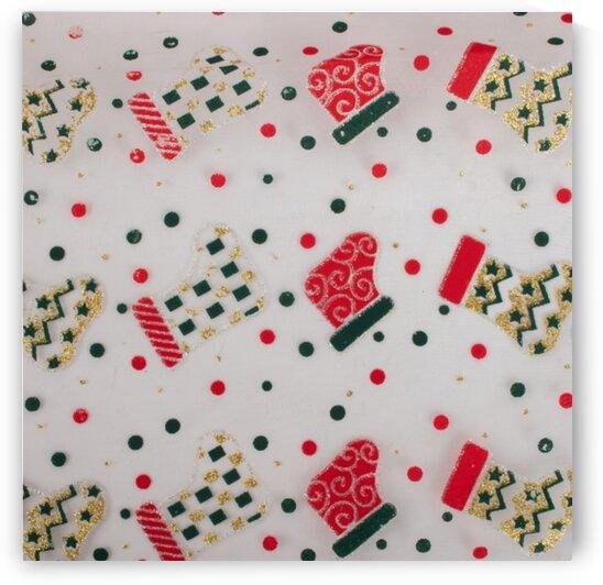 Christmas Stocking - White by Mutlu Topuz