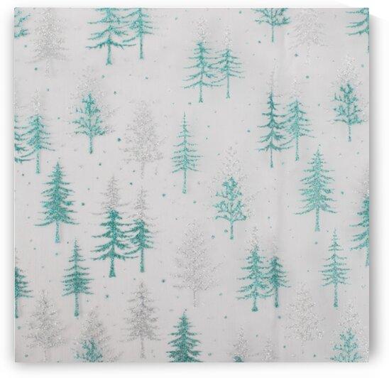 Pine tree - Teal by Mutlu Topuz