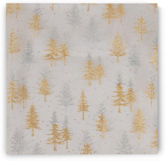 Pine tree - Gold by Mutlu Topuz