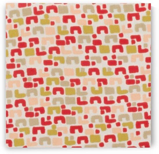 Geometric - Red by Mutlu Topuz
