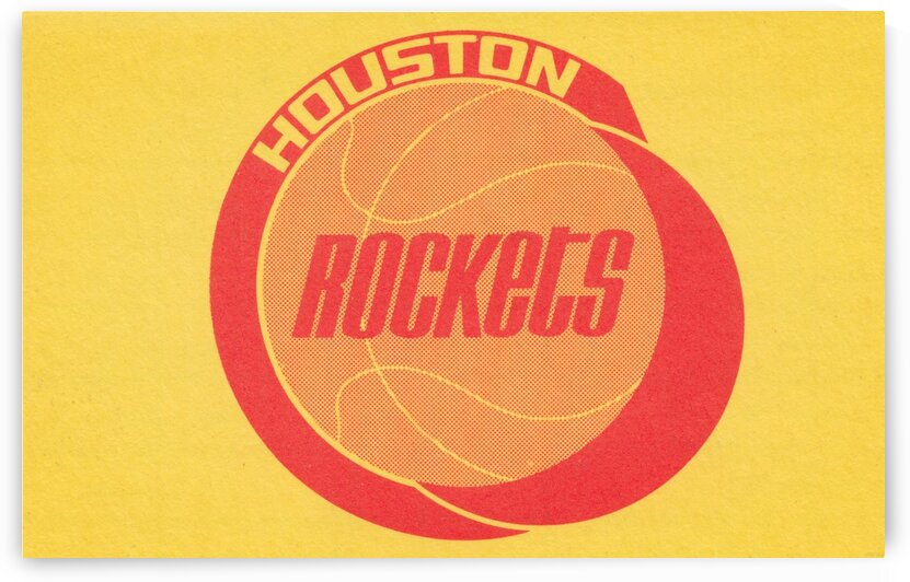 1972 Houston Rockets Art by Row One Brand