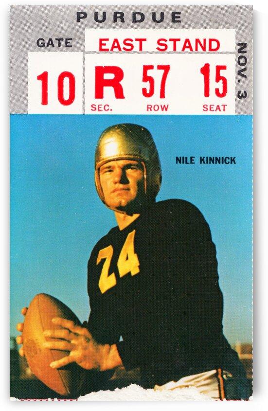 1973 Iowa Hawkeyes Nile Kinnick Ticket Stub by Row One Brand