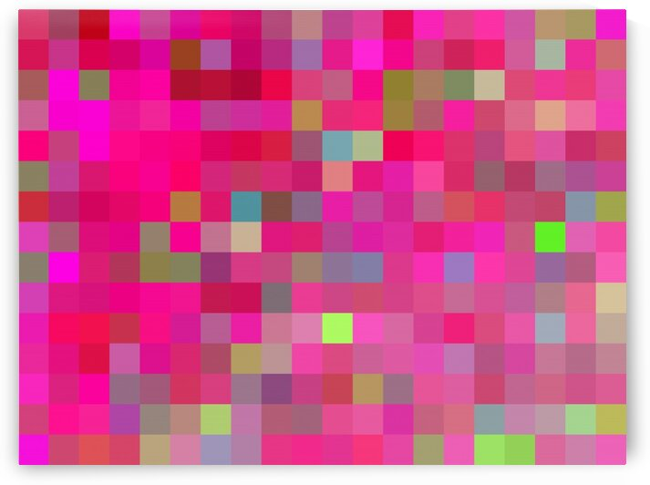 pink geometric square pixel pattern abstract background by TimmyLA