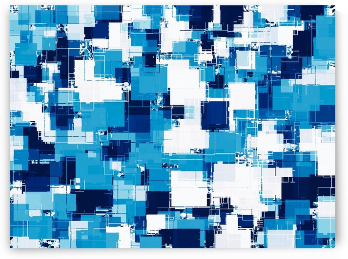 blue geometric square shape pattern abstract background by TimmyLA