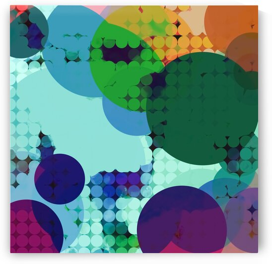 green and blue geometric circle shape abstract background by TimmyLA