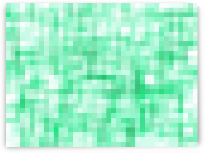 green geometric square pixel pattern abstract background by TimmyLA