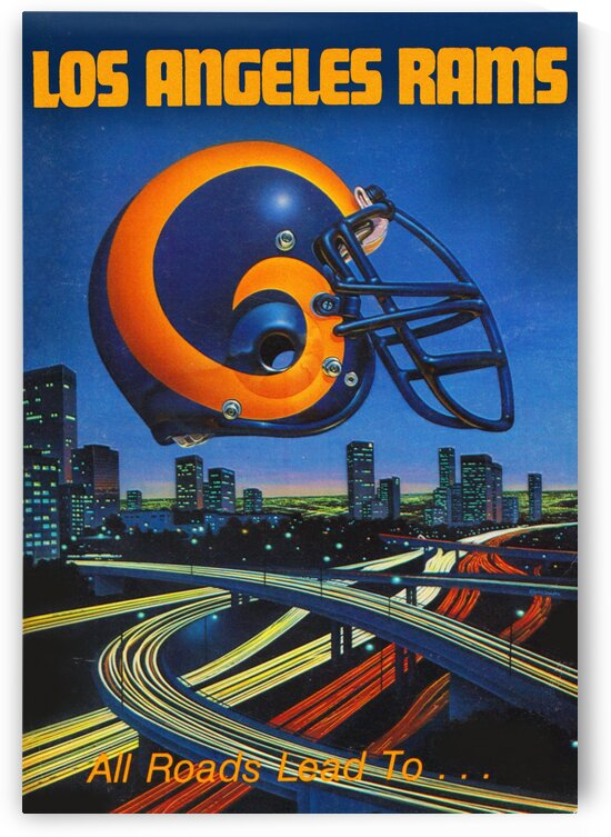 1983 Los Angeles Rams Football Poster by Row One Brand
