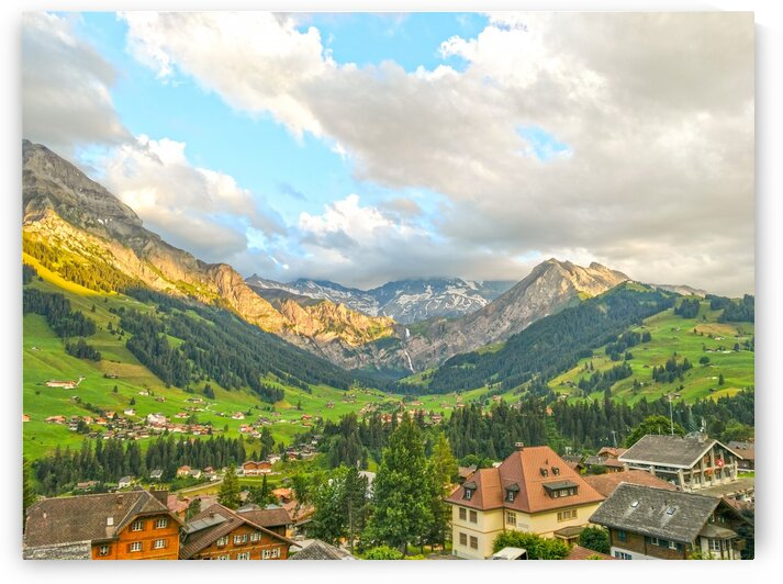 Golden Rays Across The Bernese Highlands in Switzerland With Engstligen Falls by 24