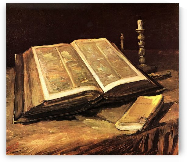 Still Life with Bible by Van Gogh by Van Gogh