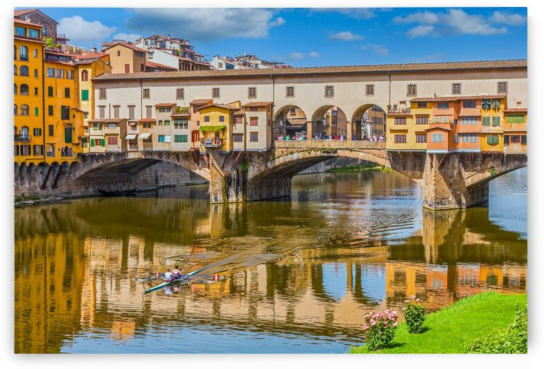 Ponte Vecchio and Kayakers by Darryl Brooks