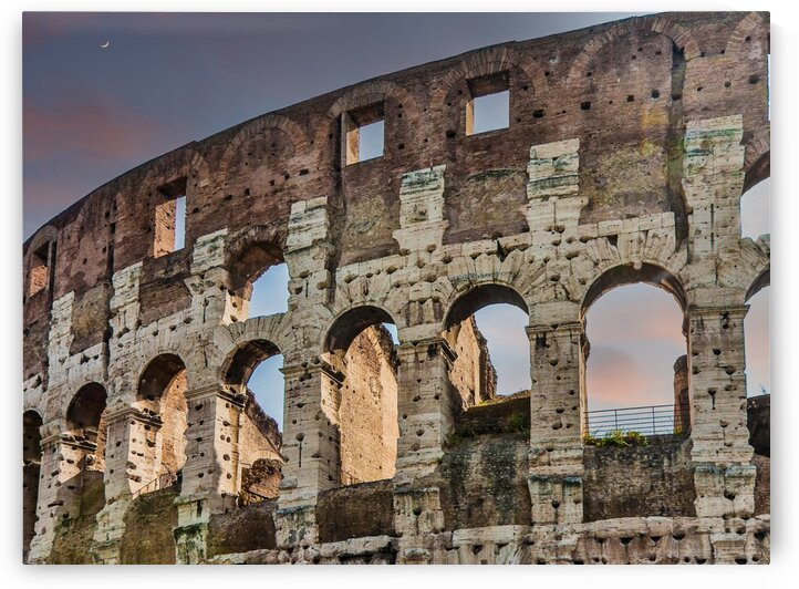 Old Coliseum in Rome at Dusk by Darryl Brooks
