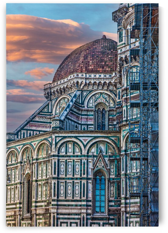 Il Duomo and Scaffold on Dusk Sky by Darryl Brooks