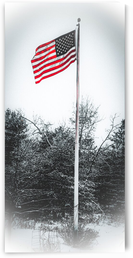 americanflaginwinter by Bene Auguri Photography