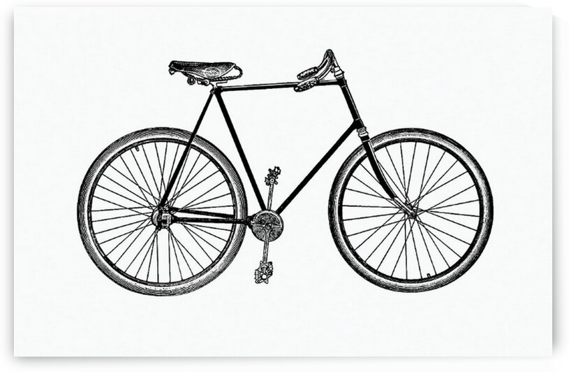Vintage Victorian style bike engraving. by Mutlu Topuz