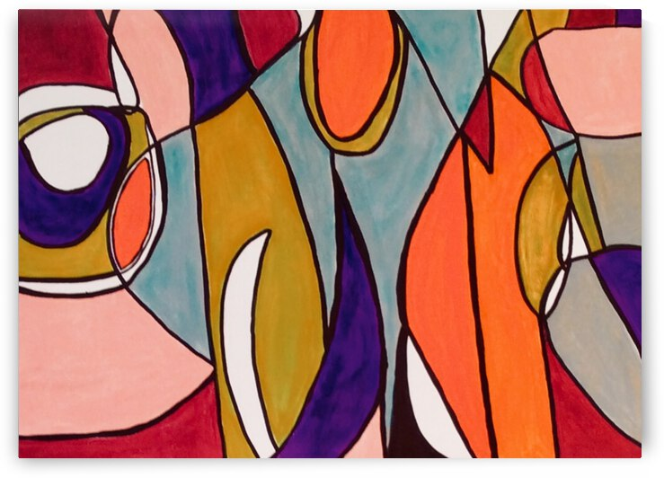 Retro Boho Pink  by Zaramar Paintings