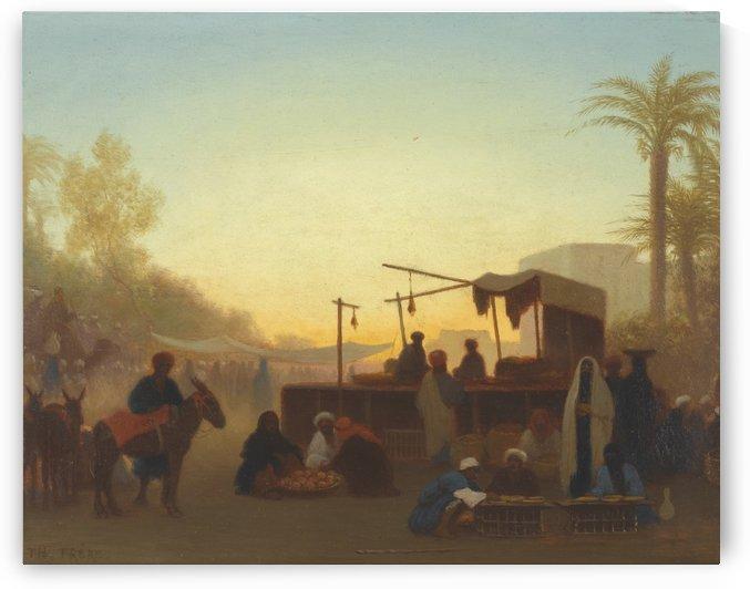 Theobald Chartran La Joueuse de Mandore by Alfred Dehodencq