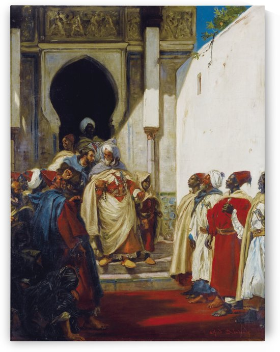 The Pacha going out by Alfred Dehodencq