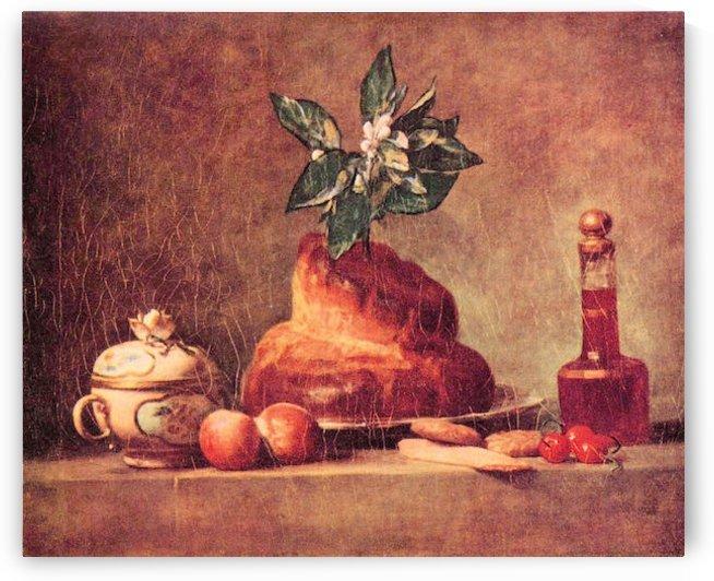 Still Life with Brioche by Jean Chardin by Jean Chardin