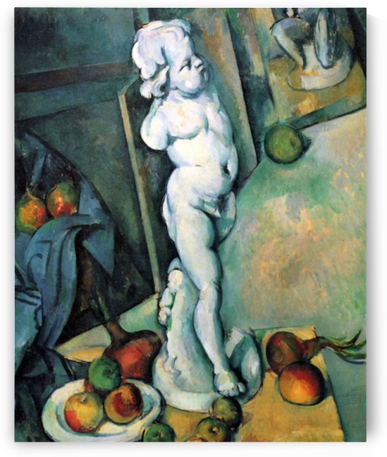 Still Life with Cherub by Cezanne by Cezanne
