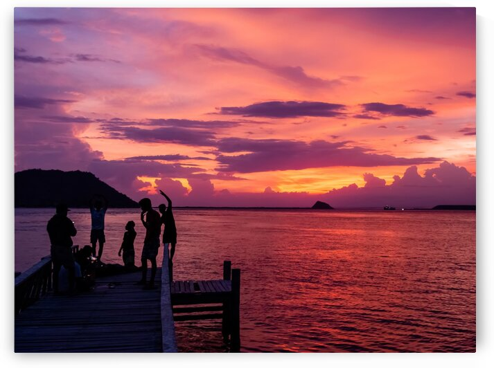 Dancing in the Twilight of an Indonesian Sunset by Rik Pijnenburg